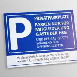 Privatparkplatz Schild aus Alu Dibond