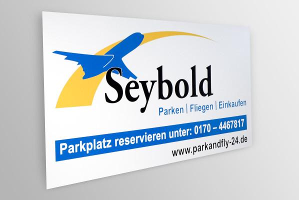 schild seybold park fly focus folienbeschriftung in. Black Bedroom Furniture Sets. Home Design Ideas