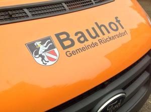 Folierung eines Bauhof Fahrzeuges für die Gemeinde Rückersdorf