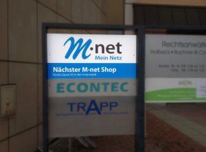 montage einer Schildanlage für M-net
