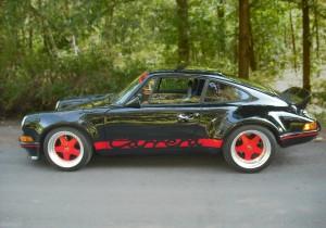 Negativ produzierter Carrera Streifen auf Porsche