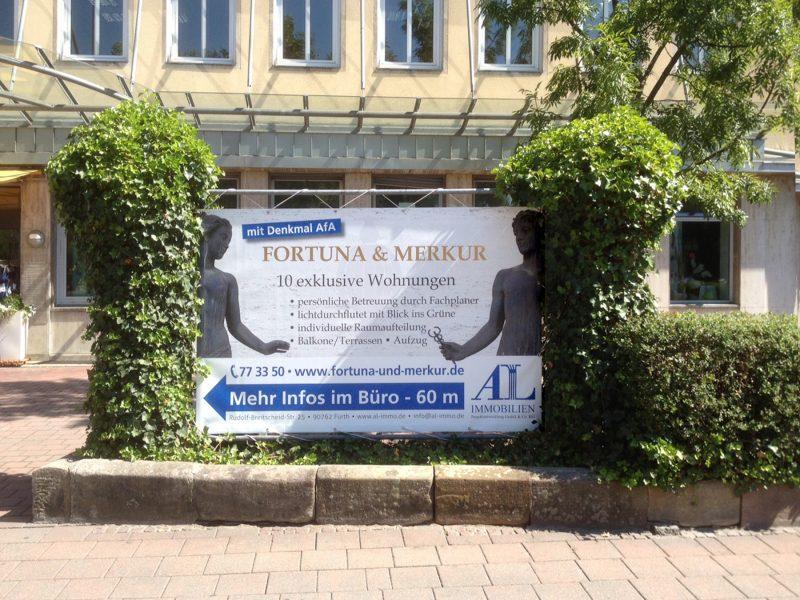 Großes PVC Banner für die Firma AL Immobilien