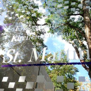 Detailansicht der St. Martin Eingangsfolierung