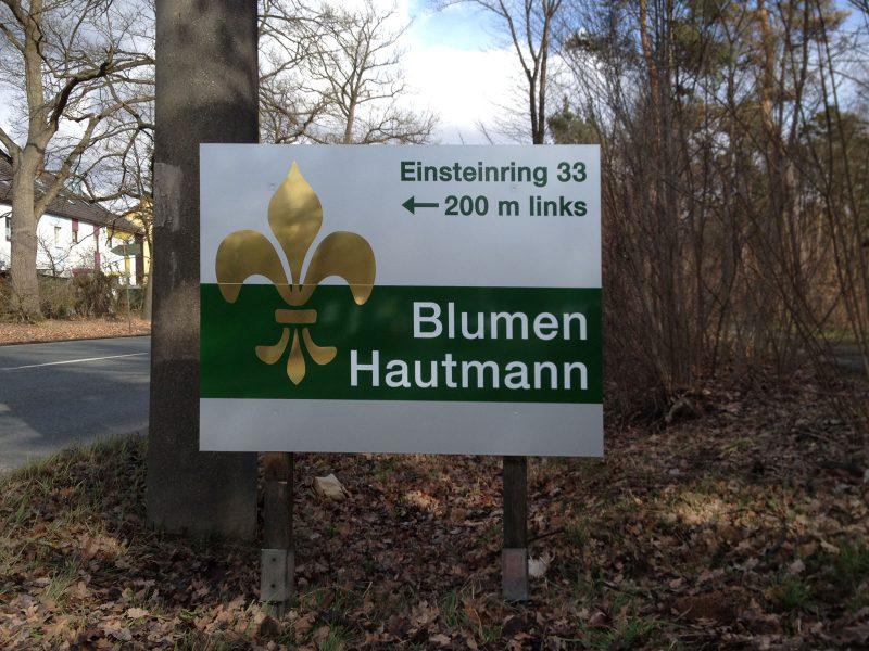 Straßenschild Blumen Hautmann