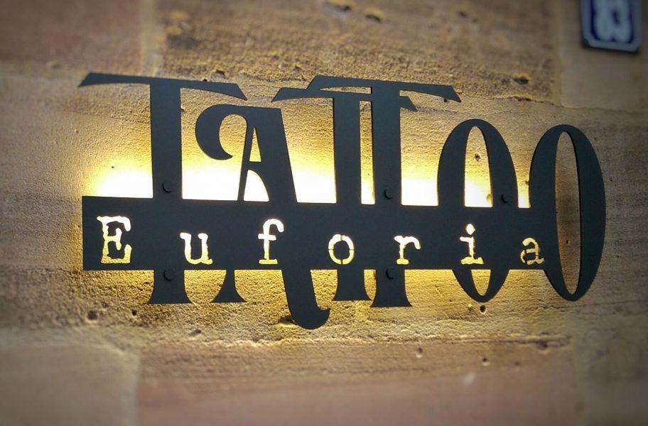 LED-Leuchtschild Tattoostudio Euforia