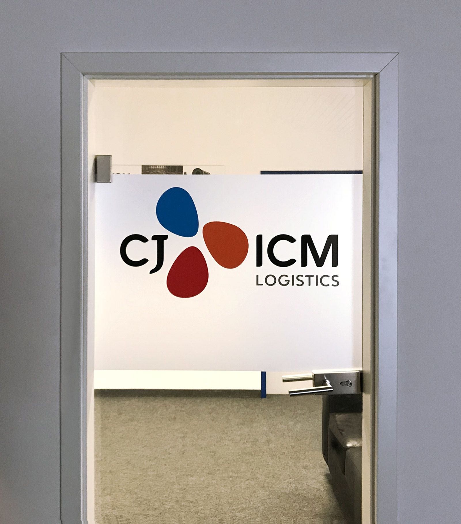 Sichtschutz Mit Logo Cj Icm Logistics Focus