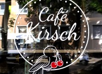 Fenster-Beklebung | Café Kirsch