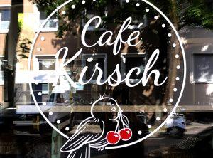 Detailaufnahme des Folienplots von Café Kirsch