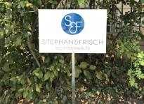Parkplatzschild   Rechtsanwälte Stephan & Frisch