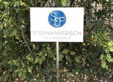 Parkplatzschild | Rechtsanwälte Stephan & Frisch