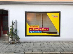 Bunte Schaufensterfolierung für die FDP