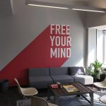 """FREE YOUR MIND"" Wandtattoo bei Design Offices"