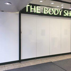 Vollfolierung eines Body Shop Ladens in Nürnberg