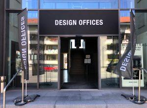 Oberlicht-Aufkleber - Eingang von Design Offices in Erlangen