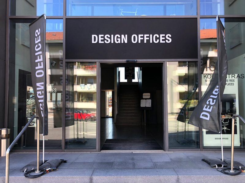Eingang von Design Offices in Erlangen