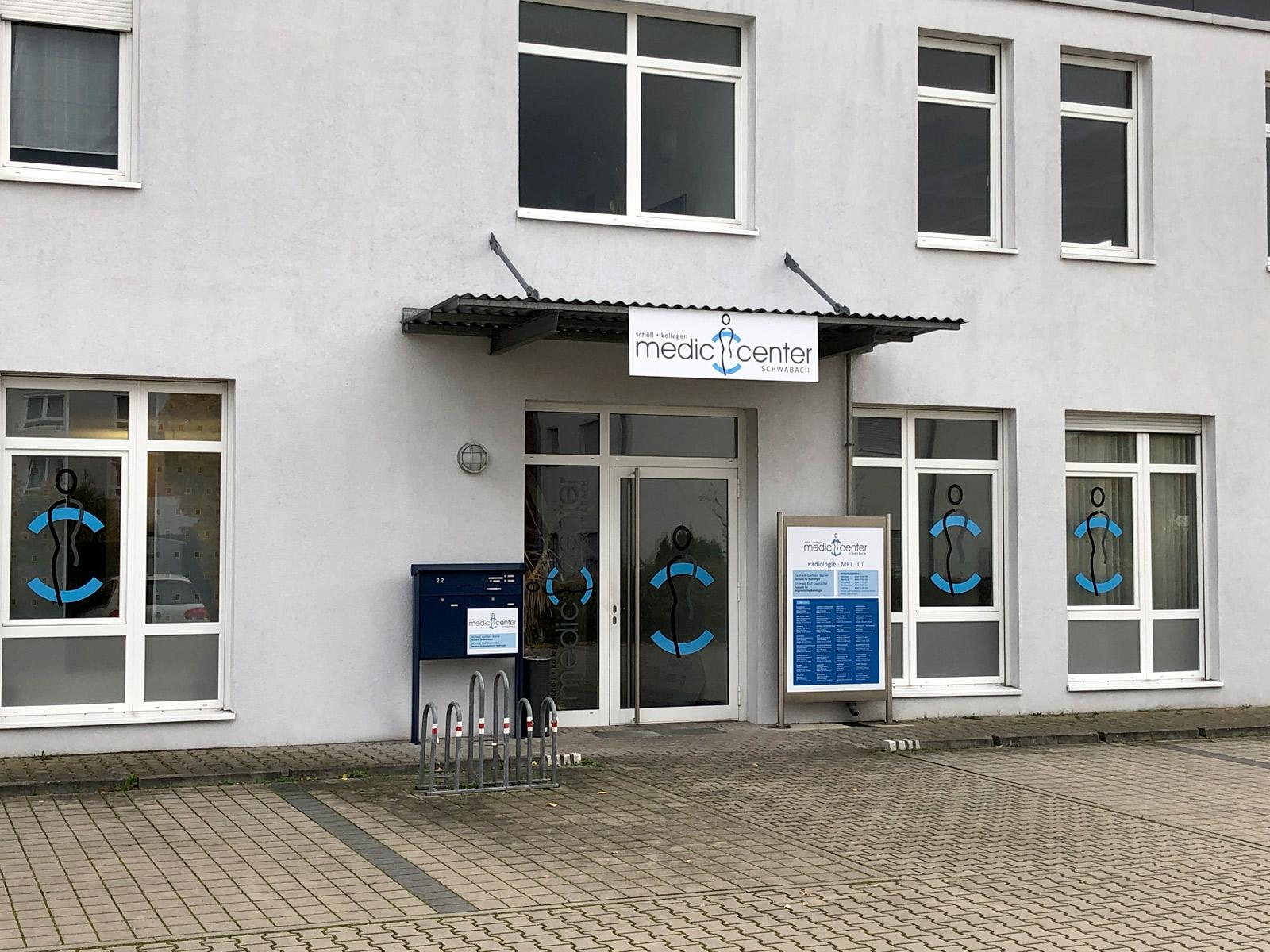 Eingansbereich eines Medic Centers in Schwabach