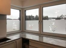 Sichtschutzbeklebung   Wohnhaus