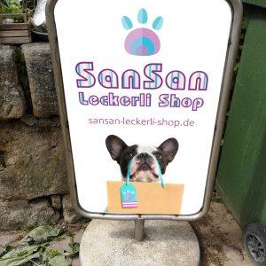 San San Leckerlie Firmenschild in Höchstadt