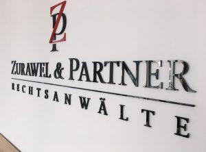 Hochwertiges 3D-Logo aus Acrylglas