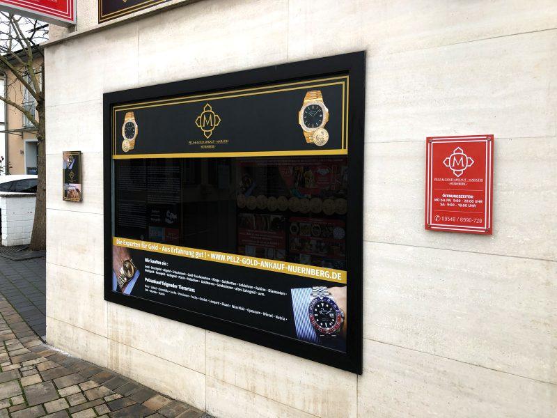 Schilder- und Schaufensterbeklebung von Gold Maratin
