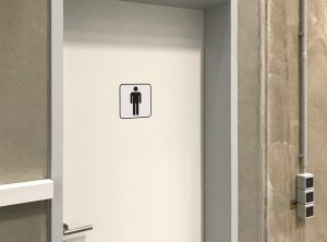 Toilettenmännchen - Aufkleber an Toilettentüre, männliche Figur, Herren