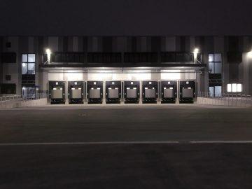 LKW Terminal Nummerierung - Nachaufnahme einer langen Reihe der Terminals mit folierter Nummerierung