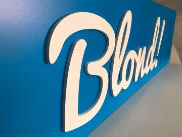 3D-Schriftzug - Neues Schild für Blond!